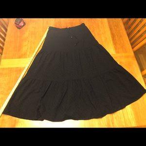 Black eyelet maxi cotton skirt Ralph Lauren